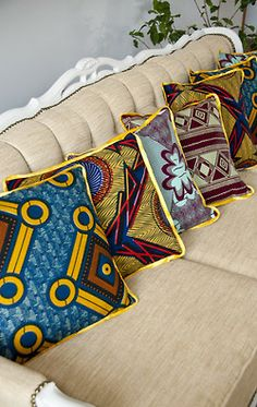 Decorative ankara pillows