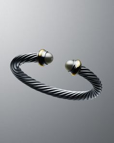 7mm Pearl Cable Classics Bracelet by David Yurman at Neiman Marcus.