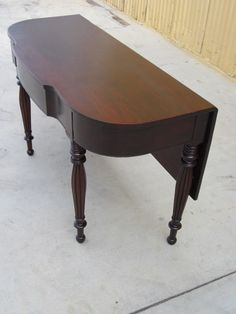 American Antique Console Table Game Table Drop Leaf Table Furniture
