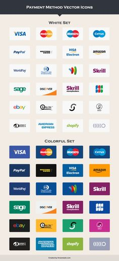 payment method vector icons large