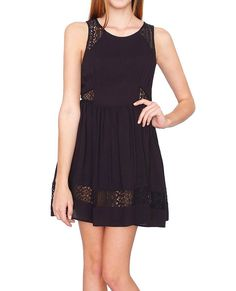 +Sleeveless dress with crochet lace detail #secretsale