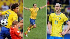 Zlatan Ibrahimovic over the year in Euros - UEFA EURO #Euro2016 UEFA Euro 2016 #Sweden