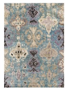 """I wish! Too expensive, but I love the look of a sort of """"melted"""" damask pattern - Loloi Rugs Xavier at MYHABIT"""