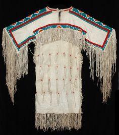 circa 1930 Cheyenne Beaded Buckskin Dress
