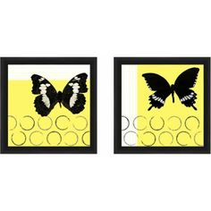 Butterfly Botanical Wall Art, Set of 2, Multicolor
