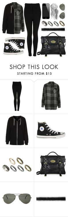 """""""Style #1372"""" by vany-alvarado ❤ liked on Polyvore featuring Topshop, Converse, ASOS, Mulberry, Ray-Ban and Links of London"""