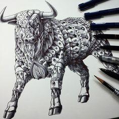 Tattoo Style Animal Illustrations by Ben Kwok