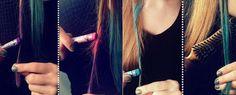 como pintar o cabelo colorido lapis de cera - Pesquisa Google