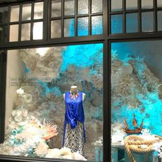 Ocean creatures abound — for a good cause —in these window displays for Earth Day..
