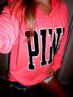 Pink by Victoria's Secret pullover sweatshirt hoodie Medium fits L oversized nwt