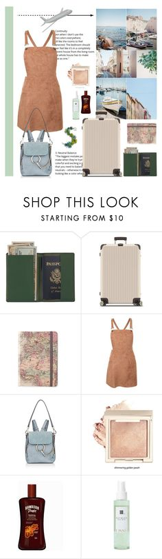 """Tropez"" by laurarico ❤ liked on Polyvore featuring Royce Leather, Rimowa, Pilot, Chloé and Linne"