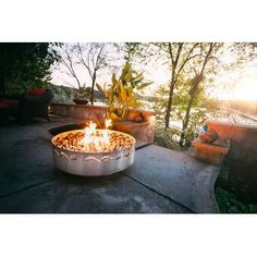 Shop the Fire Surfer Stainless Steel Fire Pit at Perigold, home to the design world's best furnishings for every style and space. Fire Pit With Lid, Fire Pit Fuel, Fire Pit Art, Wood Fire Pit, Gas Fire Pit Table, Concrete Fire Pits, Wood Burning Fire Pit, Diy Fire Pit, Fire Pit Wayfair