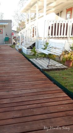 My Heart's Song: Boardwalk built with recycled wood.
