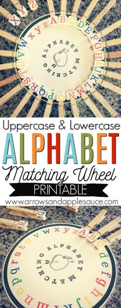 Learning to match the lowercase and uppercase letters is fun with this cute and colorful printable alphabet matching game. Easy to use with the added bonus of fine motor skills practice with the clothes pins. - Education and lifestyle Preschool Social Skills, Preschool Literacy, Preschool Letters, Preschool At Home, Preschool Printables, Literacy Activities, Kindergarten, Learning The Alphabet, Learning To Write