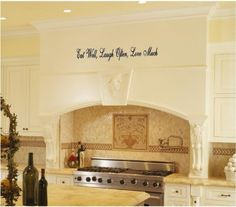 Eat Well Laugh Often Love Much Kitchen Wall Decals