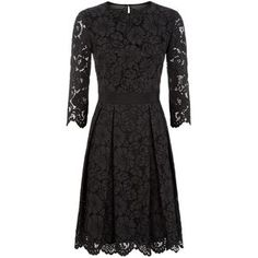 For the Beulah London 'Amara' black fit and flare lace dress