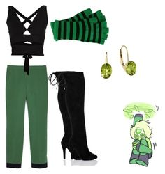 """""""Peridot- Steven Universe"""" by jadenjones515 ❤ liked on Polyvore featuring Cédric Charlier and Proenza Schouler"""