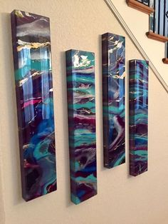 Resin a Painting, original artwork on hand crafted cradled wooden panels by Beth Desrosiers, Resin Reflections. Resin Wall Art, Epoxy Resin Art, Diy Resin Art, Resin Artwork, Resin Crafts, Resin Paintings, Acrylic Pouring Art, Acrylic Art, Pour Painting