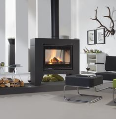 Wanders Jules double sided freestanding stove, Wanders stoves UK
