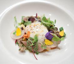 Ragout of Wild Mushrooms, Farm Fresh eggs, flowers, herbs by tinyurbankitchen, via Flickr