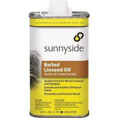 Sunnyside Corp. Boiled Linseed Oil 87216 Unit: Pint, Grey metal