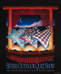 1993 Quilt Show  Sisters Outdoor Quilt Show poster by Dennis McGregor