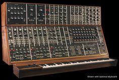 Moog modular synthesizer new for 2015; recreation of the 1973 original. Only 55 produced. $35,000.