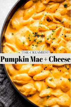 Pumpkin Mac and Cheese will quickly become your favorite fall meal. This family-friendly, easy recipe is a guaranteed winner!// easy // recipe // creamy // best // tasty