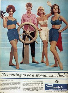 It's exciting to be a woman in Berlei, 1962.......I'm getting a Gilligan's Island vibe here.  Oh to be stranded on some uncharted desert island with these four.