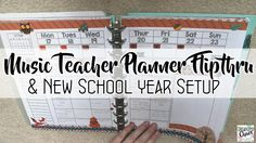 Music Teacher Planner Flip Through and New School Year Setup. Organized Chaos. Free music- themed cover design. Lots of tips for easy, fun, and efffective lesson planning.