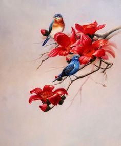 Imágenes Arte Pinturas: Oleos de pajaros