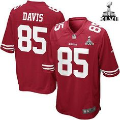 NFL NIKE San Francisco 49ers http://#85 Vernon Davis Super Bowl Patch Mens Limited Jersey$89.99