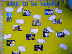 Ways to Be Helpful Board - idea from Conscious Discipline curriculum