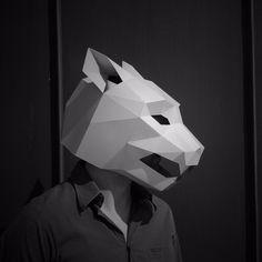 Jaguar Mask - Wintercroft  #printable #mask #Halloween