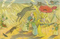 Ernst Kreidolf (Swiss, 1863-1956). Illustration from Der Gartentraum: neue Blumenmärchen. 1911.