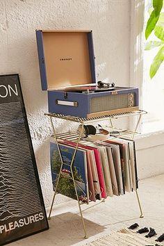 Metal Vinyl Storage Shelf