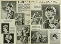 1920s, how to tie a head scarf like a turban hat