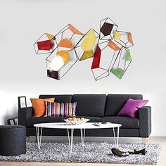pared+de+metal+decoración+de+la+pared+del+arte+e-HOME,+gráficos+abstractos+colorido+decoración+de+la+pared+–+EUR+€+146.99