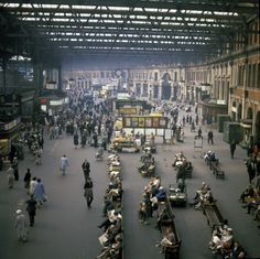 Waterloo station, 1964. Before my time, but I've always loved the atmosphere here.