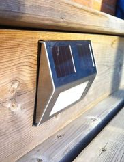 Solar Deck Lights, Set of 4