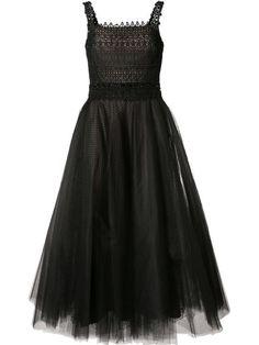 Shop Marchesa Notte tulle flared dress.