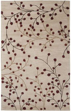 Surya Athena Burgundy Indoor Handcrafted Tropical Area Rug (Common: 8 x Actual: W x L) at Lowe's. Embodying timeless traditions while maintaining the fabulous and fashionable elements of trend worthy design, the pieces from the Athena Collection will Tropical Area Rugs, Floral Area Rugs, Home Living, My Living Room, Motif Floral, Floral Design, Floral Rug, Wool Area Rugs, Wool Rug