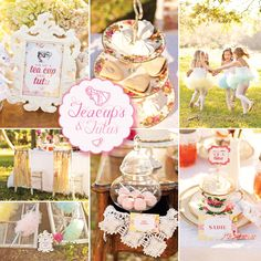Theme: {Teacups & Tutus} Delightful Girls Tea Party in the Park by The Pear ~ Event Styling & Planning with printables by Three Little Monkeys Studio! Girls Tea Party, Tea Party Theme, Princess Tea Party, Tea Party Birthday, First Birthday Parties, Birthday Party Themes, First Birthdays, 3rd Birthday, Second Birthday Ideas
