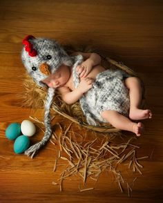 Items similar to Chicken Chick Hat & Diaper Cover SET Newborn 0 Fuzzy Rooster Photo Prop Crochet Boys Girls Gender Neutral Gift Easter Chick on Etsy Newborn Pictures, Baby Pictures, Cute Kids, Cute Babies, Baby Bunny Outfit, Chicken Hats, Crochet Bebe, Irish Crochet, Foto Art