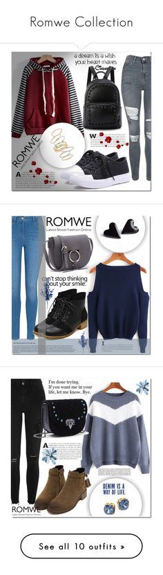 """""""Romwe Collection"""" by miralemaa ❤ liked on Polyvore featuring Topshop, BP., romwe, George, River Island, Tory Burch, Whiteley, Edie Parker, Nika and Paige Denim"""