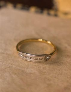 Dreamer Sterling Ring |  You are what you wear. Slide on a sweet reminder of reverie amidst reality.