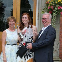 Claudia receives the Derek Sederman award #abbotsholmeschool #sport