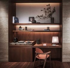 The Best Modern Home Office Design Elements Home Office Lighting, Home Office Space, Home Office Design, Modern Home Office Furniture, Office Furniture Design, Gothic Furniture, Study Room Design, Built In Desk, Office Interiors