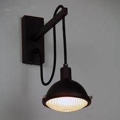 slaapkamer nachtkastje leeslamp loft gang american retro vintage opzij bar creatieve industrieën edison wandlamp