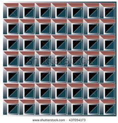 vector cubes and square background pattern design